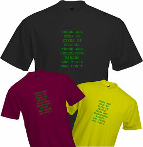 10-TYPES-OF-PEOPLE-BINARY-T-Shirt-CLEVER-Geek-Fun-Maths-Quality-NEW