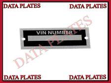 Body Tag Plate Model Number Replica Cobra Auburn Kit Car VIN ID Replicar Hot Rod