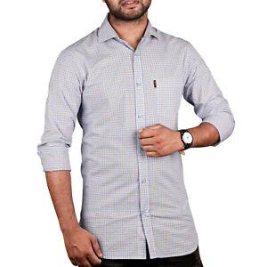 Casual Shirts Long Sleeve Casual Cotton Formal Slim Fit Shirt Collar Men's Shirt