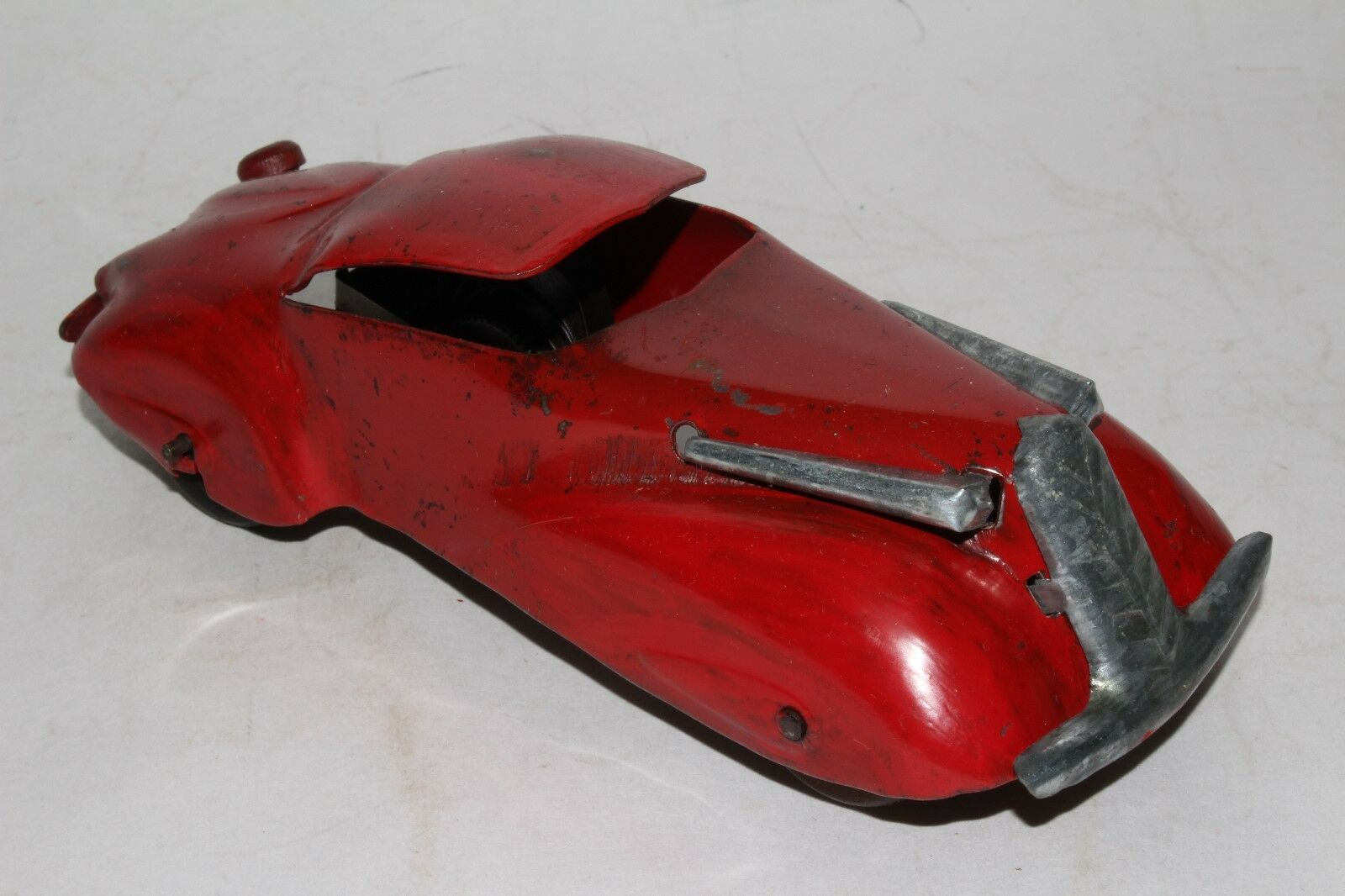 1930's Marx Streamline Windup Coupe, rosso