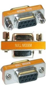 DB25 Female~F Null Modem Nul//Cross Serial RS232cable gender changer Adapter$SH{F