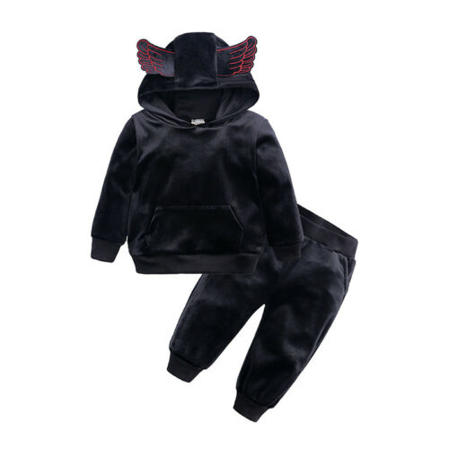 2PC Toddler Kids Clothes Boys Girl Outfits Suits Hoodies Pants Baby Tracksuit