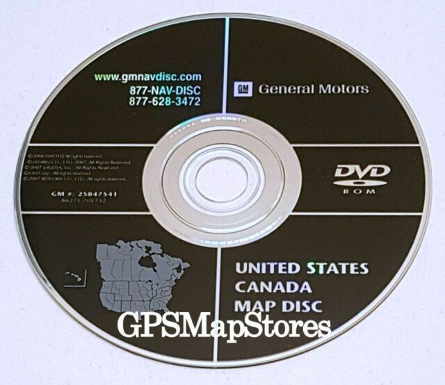 OEM GM #25847541U United States Canada Map Disc NAVIGATION DVD/ROM ...