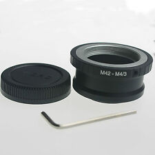M42 Lens To Micro 4/3 m4/3 Adapter for G1 GH1 GF1 EP-1 M42-M43 + Lens rear cap..