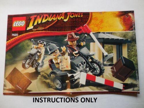 INSTRUCTIONS Lego Indiana Jones 7620 Motorcycle C Instructions Only NEW Original