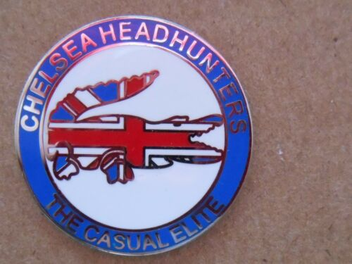 CHELSEA HEADHUNTERS ENAMEL BADGE ULTRAS GLASGOW RANGERS LINFIELD