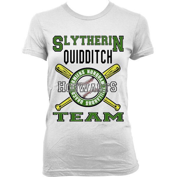 9149Lw Slytherin Team T-Shirt Harry Potter Hufflepuff Ravenclaw Gryffindor