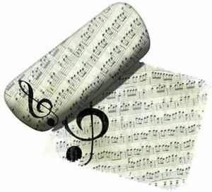 Spoontiques Padded Eyeglass Case, Music Lover, with Matching Lens Cloth Brand Ne