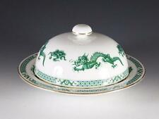 HAMMERSLEY COVERED MUFFIN DISH- UNKNOWN GREEN DRAGON PATTERN