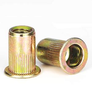 Rivet Nut LOKMAN 20 Pieces 1//2-13UNC Carbon Steel Flat Head Rivnut Threaded