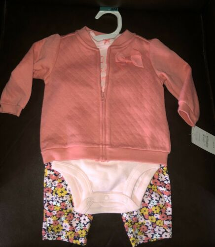 Just One You by Carter/'s 3pc Baby Girl Mama Makes Me Smile Outfit Size 3M NWT