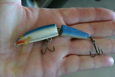 Rare Vintage articulated Fishing Lure ** Bass Lure Blue ...