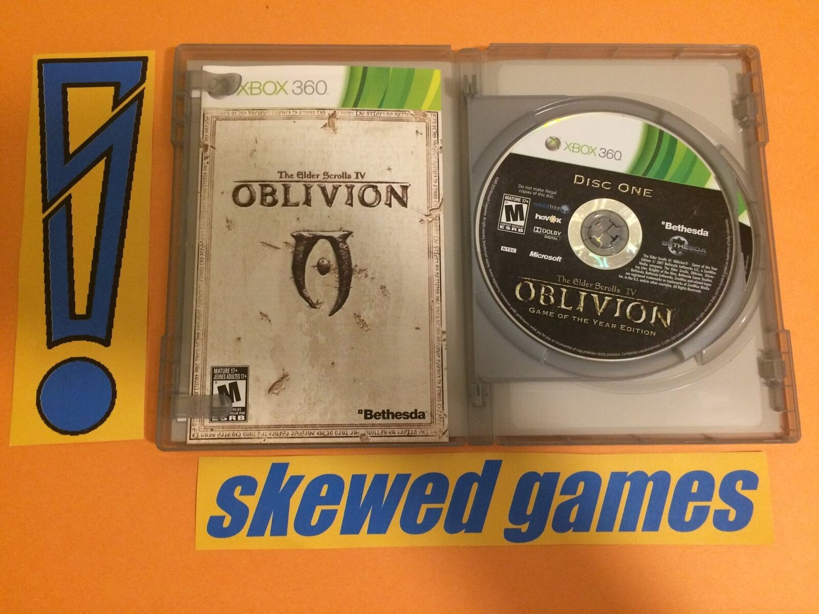 Details about Elder Scrolls IV Oblivion Game of the Year Edition GOTY -  XBox 360 Microsoft