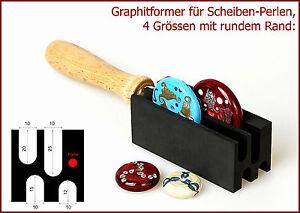 Graphitformer-fuer-Scheiben-Perlen-10mm-4-Groessen-mit-rundem-Rand