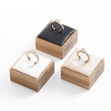 Ring Bracelet Jewelry Display Stand Holder Showcase Organizer Case Box White