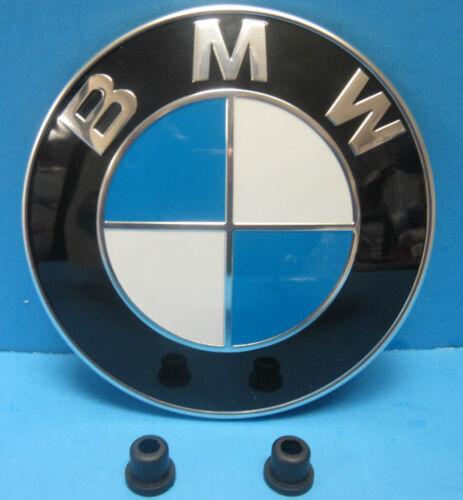 """GENUINE BMW Hood Emblem Roundel OEM# 51148132375 3.25/"""" Grommets INCLUDED"""