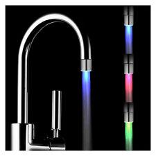 1pcs Farbwechsel LED Licht Wasserhahn Wasser Armatur 3 Farben