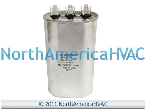 Supco Universal Oval Motor Dual Capacitor 45+10 uf MFD 370 VAC Volt CD45+10x370
