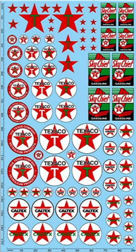 195 x 100 mm Texaco Caltex Sponsoren Decal #PP12-2 1:24 Decal Abziehbilder