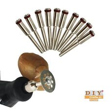 """DIY Crafts®12x 1/8"""" 3mm Cutting Disc Mandrels Cutting Cut-off Wheel Holder Workh"""