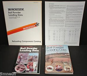 Details about Vintage Winchester Ball Powder Loading Data, Manuals, and  Price List 1970s-80s