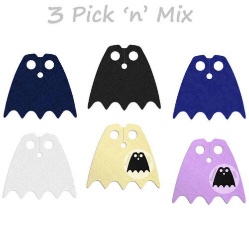 3 Custom mordê capas para o seu Mini Boneco Lego Eg Batman Robin ou Batgirl somente Capa