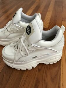 Iconic 90s White Buffalo Platform Chunky Sneakers Boots Size 10 With