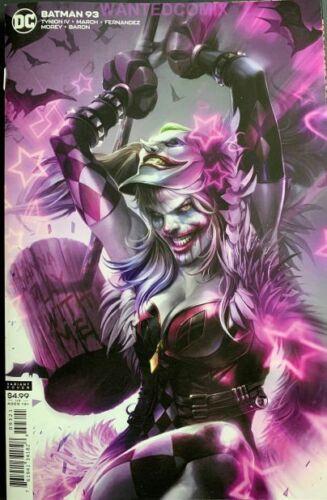 BATMAN #93 CARD STOCK FRANCESCO MATTINA VARIANT COVER PUNCHLINE COMIC BOOK NEW 1
