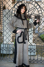 New Hand Knitted NO Mohair Sweater DRESS SET with HAT - MEGA Thick 100% WOOL