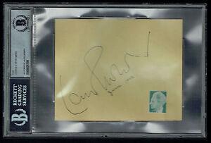 Leopold Stokowski (d. 1977) signed autograph 4.5x5.5 cut Conductor Fantasia BAS