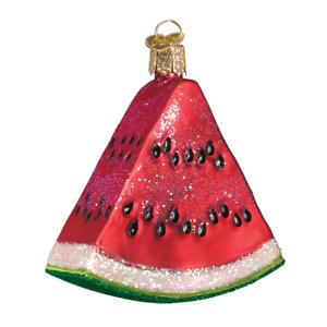 Old-World-Christmas-WATERMELON-WEDGE-28062-N-Glass-Ornament-w-OWC-Box