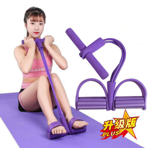 Sit-Up Pull Rope Fitness Gum Bands Latex Pedal Exerciser Yoga 4 Tube Resistance