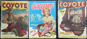 lotto-EL-COYOTE-GIAGUARO-ANNI-1953-1954-3-VOLUMETTI