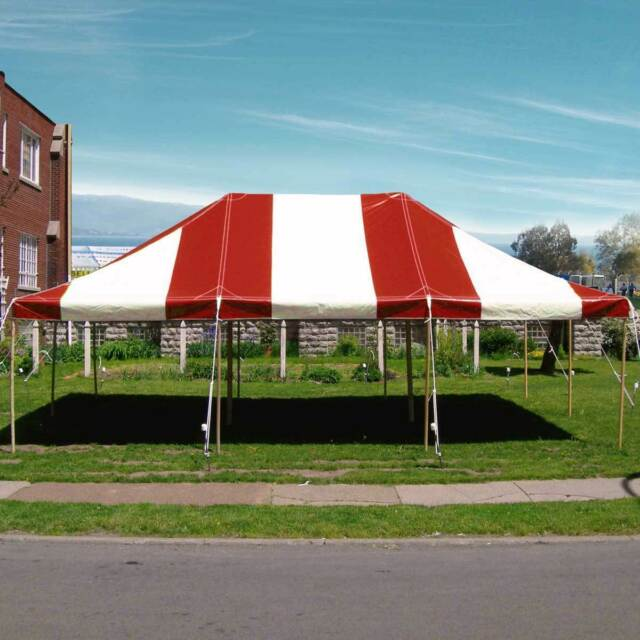 Party Tents For Sale 20x30 >> 20x30 Commercial Pole Tent Heavy Duty Wedding Party Canopy Red