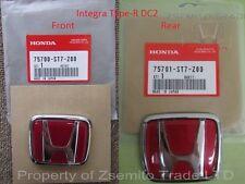 Honda Integra DC2 Type R FRONT AND REAR EMBLEM JDM Genuine ITR OEM Badge