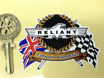 RELIANT Flags & Scroll classic sports car sticker Scimitar GTE Sabre Robin