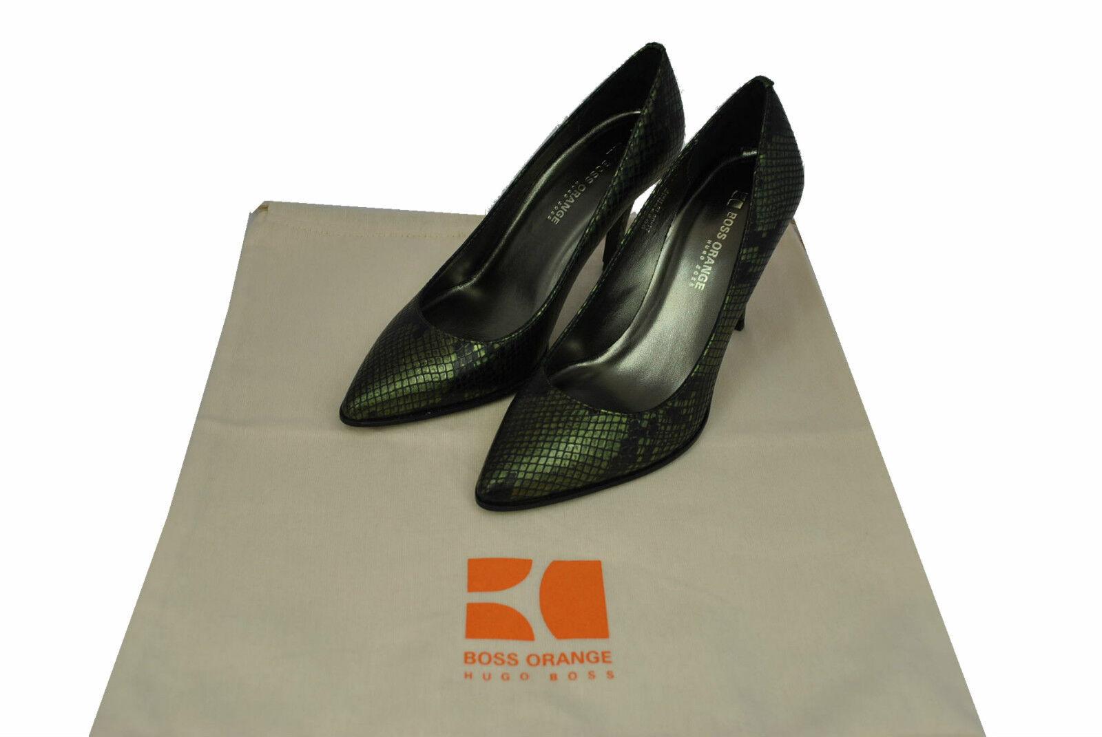 HUGO BOSS BOSS BOSS Mavril,Stöckel zapatos,Pumps,mujer,NEU,Elegant,Leder,Made in ,verde  caliente