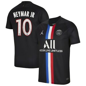 Jordan Psg Paris Sg 2019 2020 Neymar Jr 10 Fourth Soccer Jersey Black New Ebay