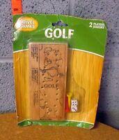 Travel Golf Vtg Wooden Peg Game W/ Dice Greenbrier International Kitschy