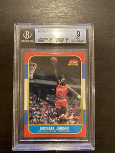 1986 Fleer Basketball #57 Michael Jordan Rookie BGS 9 (9.5,9,9,8.5) sub-graded