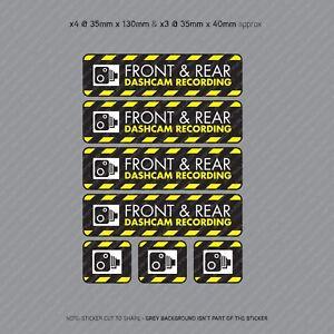 7-x-Dash-Cam-Recording-Stickers-CCTV-In-Car-Video-Camera-Decal-Sticker-SKU3110