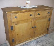 CREDENZA Comò base in legno massello a trama grossa RUSTIC Plank in pino grezzo legno mobili