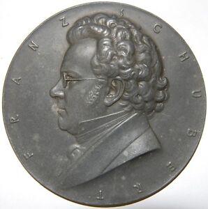 LibéRal Autriche-franz Schubert Médaille - 1924 Par A. Hartig-afficher Le Titre D'origine Bon GoûT