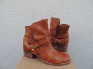 50f5b676d31 Details about UGG ELORA CHESTNUT LEATHER ANKLE WRAP BOOTS, WOMEN US 6.5/  EUR 37.5 ~NIB