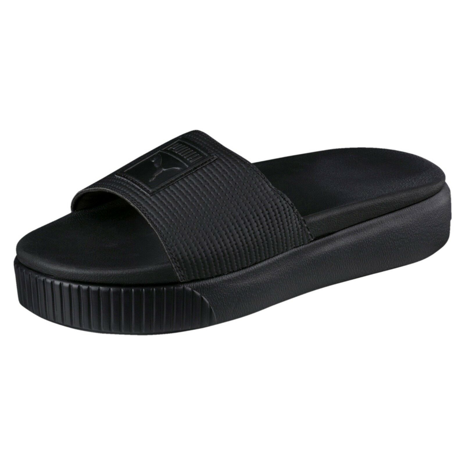 Puma femmes SANDALS - PLATFORM SLIDE EP - WITH LOGO ON STRAP - noir