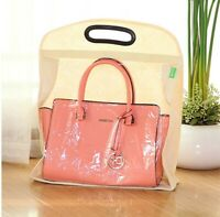 Luxury Purse Protector Bag Storage Organizer Dust Cover Watching Window Large