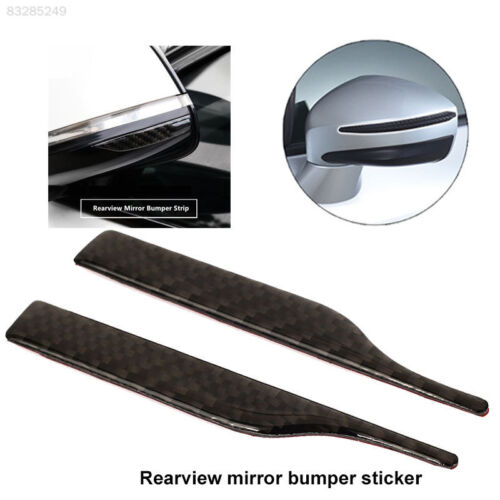 C12B E5CD Black Decor Trim Console Sticker Rearview Mirror Anti-Rub Strips 2PCS