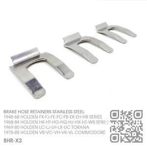 BHR-X3-BRAKE-HOSE-CLIPS-SS-1948-62-HOLDEN-FX-FJ-FE-FC-FB-EK-UTE-VAN-SEDAN-WAGON