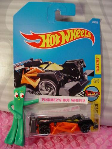 New FLASH DRIVE #147✰black/orange ✰Legends Speed✰2017 i Hot Wheels Case G/H