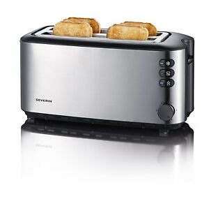 Severin-Automatic-Long-Slot-Toaster-4-Slice-1400W-Brushed-Stainless-Steel-AT2509